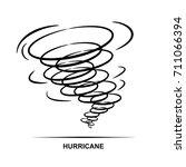 hurricane icon vector | Shutterstock .eps vector #711066394