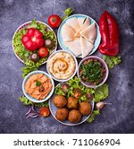 selection of middle eastern or... | Shutterstock . vector #711066904