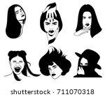 vector hand drawn illustration... | Shutterstock .eps vector #711070318