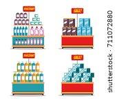 supermarket store consumerism... | Shutterstock .eps vector #711072880