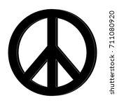 hippie peace love circle button ... | Shutterstock .eps vector #711080920