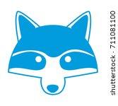 racoon animal cartoon | Shutterstock .eps vector #711081100
