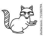racoon animal cartoon | Shutterstock .eps vector #711083794
