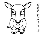 anteater animal cartoon | Shutterstock .eps vector #711083800