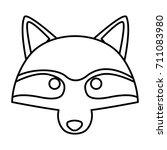 racoon animal cartoon | Shutterstock .eps vector #711083980