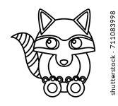 racoon animal cartoon | Shutterstock .eps vector #711083998