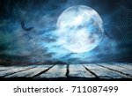 Stock photo halloween background 711087499