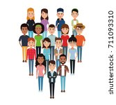 friendship cartoon design | Shutterstock .eps vector #711093310