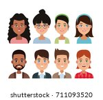 friendship cartoon design | Shutterstock .eps vector #711093520