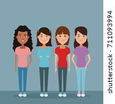 friendship cartoon design | Shutterstock .eps vector #711093994