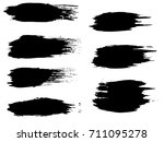 collection of artistic grungy... | Shutterstock . vector #711095278