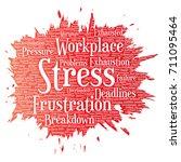 conceptual mental stress at... | Shutterstock . vector #711095464
