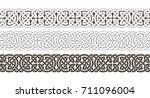 celtic knot braided frame...   Shutterstock .eps vector #711096004