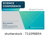 science conference invitation... | Shutterstock .eps vector #711098854