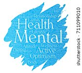 vector conceptual mental health ... | Shutterstock .eps vector #711099010