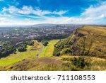 cityscape of edinburgh from... | Shutterstock . vector #711108553