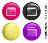 tabs multi color glossy badge...