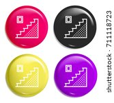 stairs multi color glossy badge ...