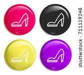 high heels multi color glossy...