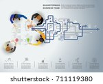 business meeting and... | Shutterstock .eps vector #711119380