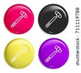hammer multi color glossy badge ...