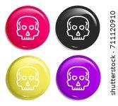 skull multi color glossy badge...