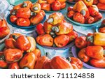 various cashews for sale... | Shutterstock . vector #711124858