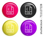 css multi color glossy badge...