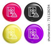 flour multi color glossy badge...