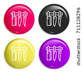 knives multi color glossy badge ...
