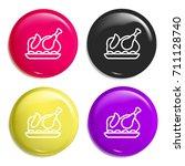 turkey multi color glossy badge ...