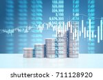 graph coins stock finance and... | Shutterstock . vector #711128920