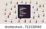 open source software... | Shutterstock .eps vector #711130060