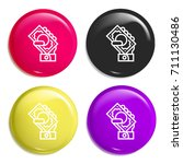 money multi color glossy badge...