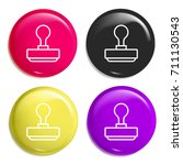 stamp multi color glossy badge...
