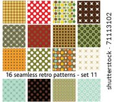 16 Seamless Retro Patterns  ...
