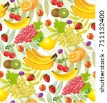 all fruits seamless patterns... | Shutterstock .eps vector #711132400