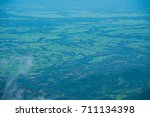 beautiful green field from the... | Shutterstock . vector #711134398