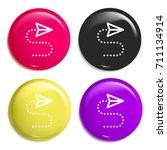 cursor multi color glossy badge ...