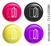 fold multi color glossy badge...