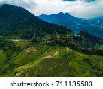 highway road to nature ... | Shutterstock . vector #711135583
