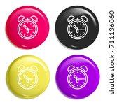 clock multi color glossy badge...