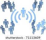 person uses wifi or other... | Shutterstock .eps vector #71113609