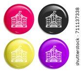 school multi color glossy badge ...