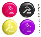 gavel multi color glossy badge...