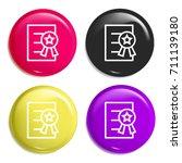 certificate multi color glossy...