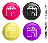 store multi color glossy badge...   Shutterstock .eps vector #711139624