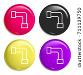 pipe multi color glossy badge...