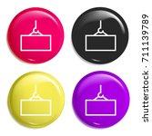 crane multi color glossy badge...