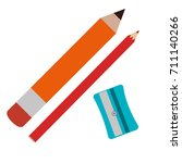 sharpenner school with pencil | Shutterstock .eps vector #711140266